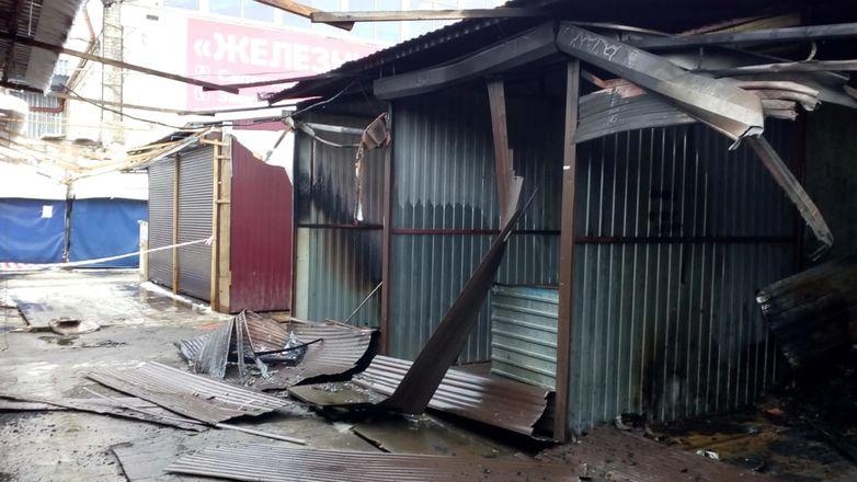 ГУ МЧС по региону показало, как выглядит Канавинский рынок после пожара - фото 4