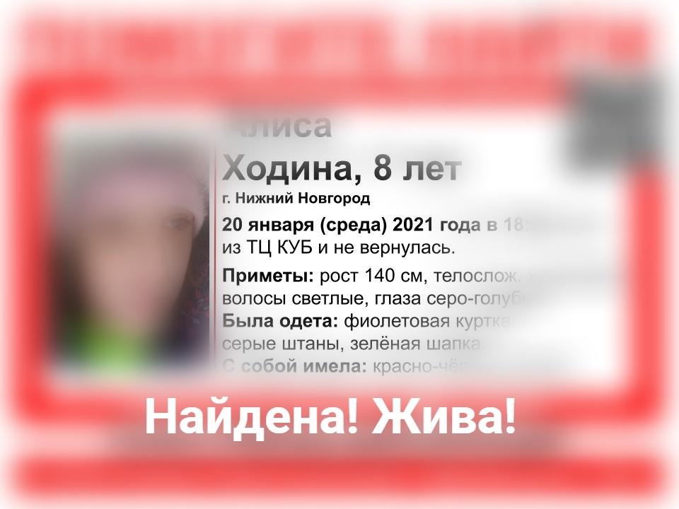 Пропавшую в Нижнем Новгороде восьмилетнюю девочку нашли живой - фото 1