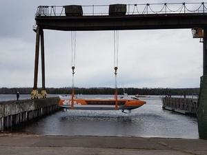 Четвертое судно на подводных крыльях «Валдай 45Р» спустили на воду в Чкаловске