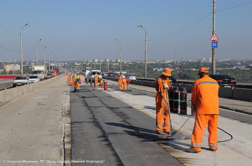 Ремонт наМызинском мосту изготовлен практически наполовину