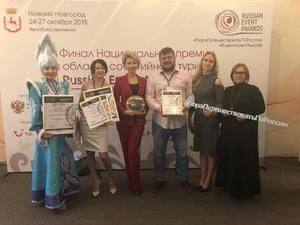 Семь туристических проектов Нижегородской области стали победителями Russian Event Awards 2018