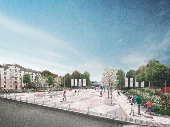 Игровая плошадка-корабль и яблоневый сад: что изменилось в концепции благоустройства площади Буревестника - фото 3