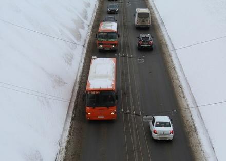 Выделенные полосы для автобусов появятся на проспекте Ленина и Окском съезде