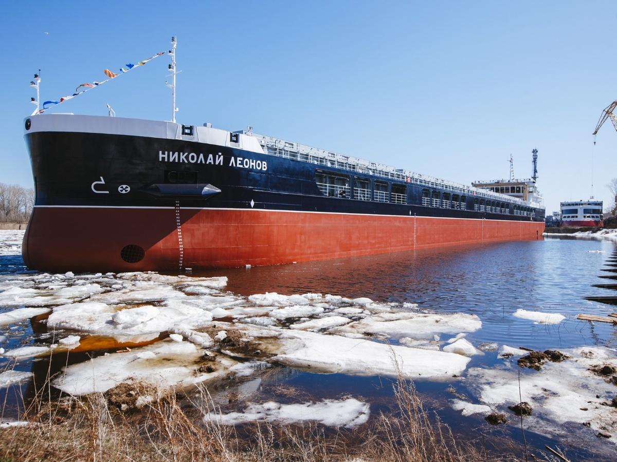 Сухогруз «Николай Леонов» спустили на воду в Нижегородской области - фото 1